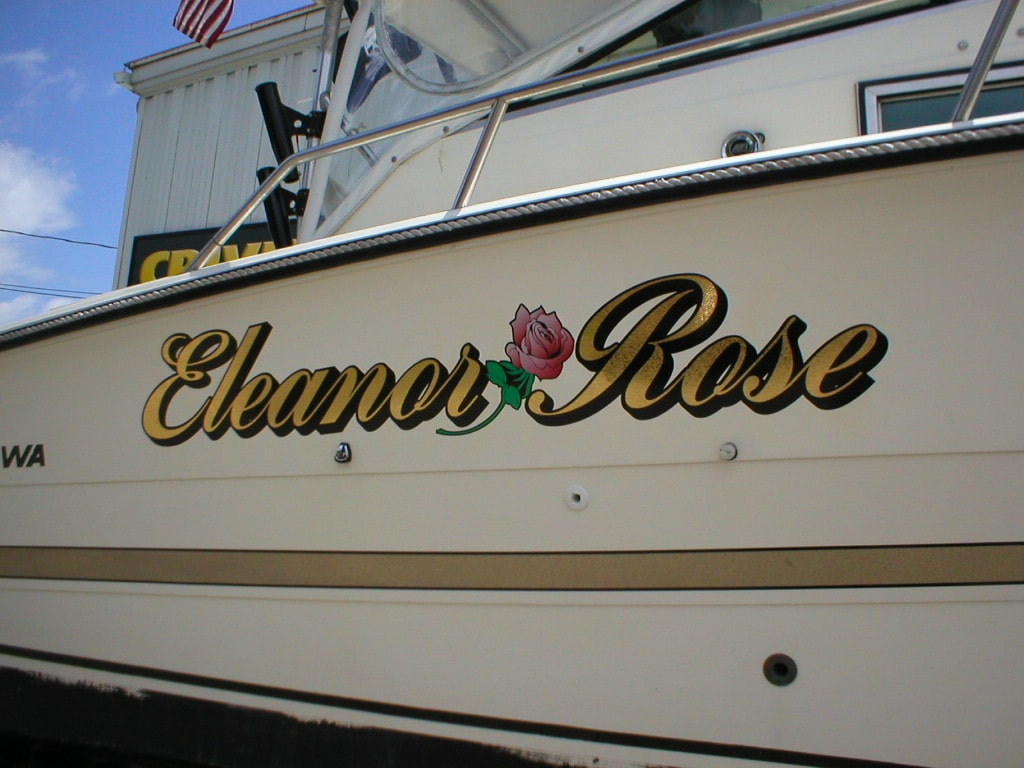 Boat Lettering And Boat Graphics Crivello Signs Inc - Boat decal graphics