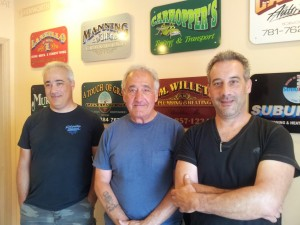 Left to right: Pete Crivello, Dad, Mike Crivello