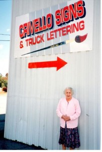 Grandma Anita Stood with us 1994. Crivello Signs & Truck Lettering